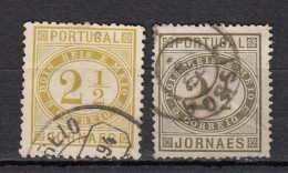 Portugal Timbres Pour Journaux 1876  YT N°50 & N°50A - Oblitérés