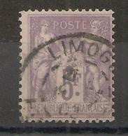 5F SAGE, LIMOGES Haute Vienne. - 1876-1898 Sage (Type II)