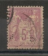 MAGNIFIQUE NUANCE Lilas Rose, Perforé C.L 5F SAGE. Cote: 100 EUR - 1876-1898 Sage (Type II)