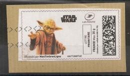 STAR WARS, Maitre Yoda. - 2010-... Illustrated Franking Labels