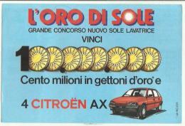 131391 CARTOLINA CONCORSO L' ORO DI SOLE VINCI CITROEN AX - Sin Clasificación