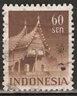 Indonesia 1949 Gebouwen 60 Sen Kamtanding 11,5 NVPH 381B. Gestempeld/ Cancelled - Nederlands-Indië