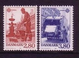 DÄNEMARK MI-NR. 882-883 ** EUROPA 1986 - NATUR- Und UMWELTSCHUTZ MÜLLABFUHR - 1986