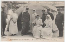 HOPITAL MILITAIRE De LALLA MARNIA (ALGERIE) - PERSONNEL MEDICAL ET INFIRMIERES DE LA CROIX ROUGE - Algérie