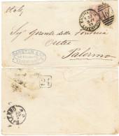 FR005) GRAN BRETAGNA LETTERA CON 2 1/2 P. PER L'ITALIA 3.7.1877 - 1840-1901 (Regina Victoria)
