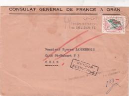 LETTRE ALGERIE 1963  CONSULAT DE FRANCE A ORAN 2 GRIFFE N'HABITE PAS ET RTOUR  /7701 - Algeria (1962-...)