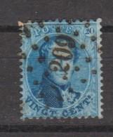 Belgique N°15 OBLITERE LP 209 LA ROCHE NIPA +600 = 15€  M-A-P 1.5€ - 1863-1864 Medaglioni (13/16)