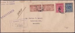 1928-H-57 CUBA REPUBLICA (LG-1207) SOBRE CERTIFICADO DE LA HABANA A MATANZAS. 1931. - Lettres & Documents