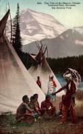 THE TALE HUNTER, GLACIER, NATIONAL PARK, MONTANA. SEE AMERICA FIRST - Indios De América Del Norte
