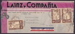 1940-H-62 CUBA REPUBLICA (LG-1214) 10c PENNY BLACK TO US. SOBRE COMERCIAL ILUSTRADO. - Cuba