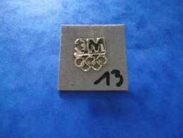 """PIN´S - JEUX  OLYMPIQUES - """" Les Anneaux + Pub 3M  - Voir Photo ( 13 ) - Olympische Spelen"""