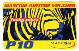 BOTSWANA RECHARGE MASCOM P10 Année 2006 Zebre Verso VOICEMAIL - Botswana