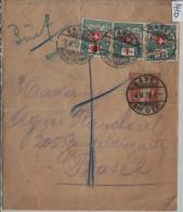 1919 Porto 29, 38 Auf Streifband 34 - Stempel: Basel - Portomarken