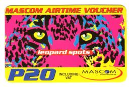 BOTSWANA RECHARGE MASCOM P20 Année 2006 PANTHERE Verso SMS - Botswana