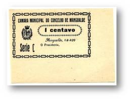MANGUALDE - CÉDULA 1 CENTAVO - Série C - Escassa - 1.9.1920 - M.A. 1315 - PORTUGAL Emergency Paper Money Notgeld - Portugal