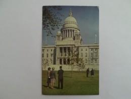 USA RHODE ISLAND PROVIDENCE STATE HOUSE 1960 YEARS POSTCARD - Providence