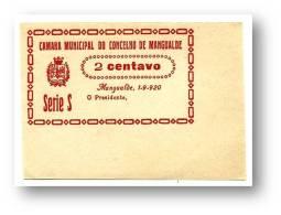 MANGUALDE - CÉDULA 2 CENTAVOS - Série S - Escassa - 1.9.1920 - M.A. 1316 - PORTUGAL Emergency Paper Money Notgeld - Portugal