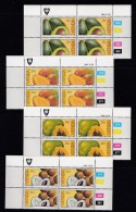 VENDA, 1983, MNH Controls Blocks Of 4, Tropical Fruit, M 82-85 - Venda