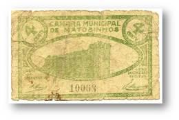 MATOSINHOS - CÉDULA 4 CENTAVOS - ND - M.A. 1344 - PORTUGAL Emergency Paper Money Notgeld - Portugal