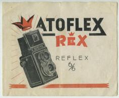 Plaquette De 4 Pages Sur L'ATOFLEX REX Reflex 6 X 6 - Supplies And Equipment