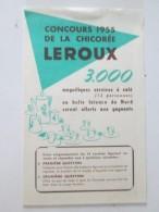 Concours De La Chicorée LEROUX     1955 - Vieux Papiers