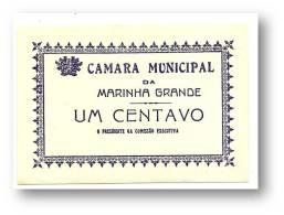 MARINHA GRANDE - CÉDULA 1 CENTAVO - Escassa - M.A. 1333d - PORTUGAL Emergency Paper Money Notgeld - Portugal