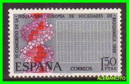 ESPAÑA  ( EUROPA )   SELLO  VI CONGRESO EUROPEO  AÑO 1969 NUEVO - 1961-70 Nuevos & Fijasellos