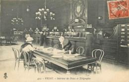 03 - VICHY - INTERIEUR ANIME  DE LA POSTE - CPA. - Vichy