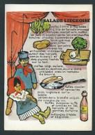 Herstal. Taverne Restaurant L'Union. Recette De La Salade Liégeoise. Carte SM. 2 Scans. - Herstal