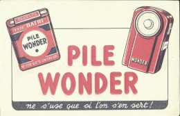 Buvard -- Pile Wonder.  .         (2 Scans) - Piles