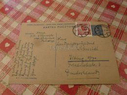 Chojnice Kartka Pocztowa Poland To Elbing Elblag Postal Stationery - 1919-1939 Republik