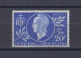 SAINT-PIERRE-ET-MIQUELON . YT 314 Neuf **  Entraide Française  1944 - Unused Stamps