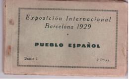 § Carnet De 11CP  Exposicion Internacional Barcelona  - Pueblo Espanol - Barcelona