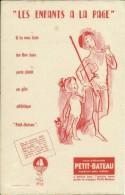 """Buvard Petit-Bateau -- """"les Enfants à La Page.         (2 Scans) - Textile & Vestimentaire"""