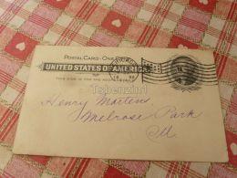 Chicago Evening Post Melrose Park USA America Carte Postale Postkarte Postcard Postal Stationery - 1847-99 General Issues