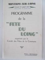Programme   De La Fete Du LOING  1953 MONTIGNY SUR LOING - Programmes