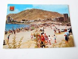Carte Postale Ancienne : ALICANTE : Playa De La Albufereta - Alicante