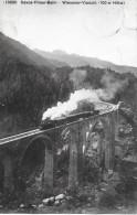 DAVOS-FILISUR-BAHN → Dampfzug Auf Dem Wiesener-Viadukt 1917 - GR Graubünden