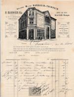Facture De CHARTRES Illustrée Rue De La Pie Ancienne Maison HADOUIN THIROUIN  à St éloi ( Quincaillerie ) En 1883 - France