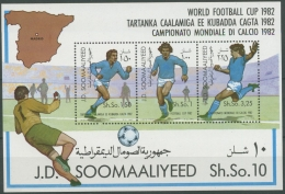 Somalia 1982 Fußballweltmeisterschaft Spanien Block 12 Postfrisch (C23213) - Somalia (1960-...)