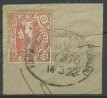 Oberschlesien Bahnpost Kandrzin-Camenz Z376 16 Auf Briefstück (OS1643) - Germany