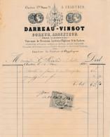 Facture De CHARTRES Illustrée Cloitre Notre Dame Doreur Argenteur DARREAU VINSOT En 1882 - France