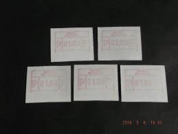 HALFDRUK Onder !! N/F C Papier. 5x. - Postage Labels