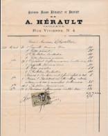 Facture De CHARTRES Rue Vivienne Ancienne Maison Hérault Et Brunet HERAULT  En 1882 - 1800 – 1899