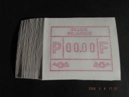 TEST-NULDRUK. 50 X. Groot Formaat N/F. Oostende. E Papier.