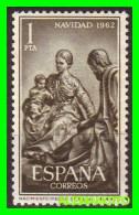 ESPAÑA ( EUROPA )  SELLO  NAVIDAD    AÑO 1962 NUEVO - 1961-70 Nuevos & Fijasellos