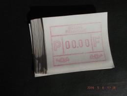 TEST-NULDRUK. GOMDRUK. 50X. Groot Formaat N/F. Oostende. E Papier.  RR. - Postage Labels
