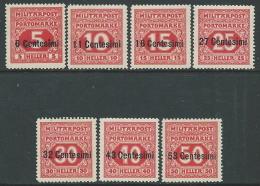 1918 OCCUPAZIONE AUSTRIACA SEGNATASSE 7 VALORI MNH ** - P1 - Oostenrijkse Bezetting