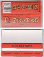 Carnet De Feuilles A Rouler Les Cigarettes ZIG-ZAG King Size . Neuf. - Around Cigarettes