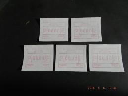 TEST-NULDRUK. GOMDRUK. 5 X. Groot Formaat N/F. Oostende. E Papier.  R. - Frankeervignetten